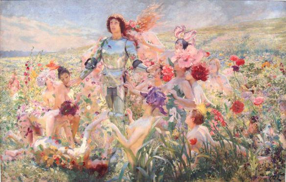 Le Chevalier aux Fleurs 1894. Georges Rochegrosse 1859 1938